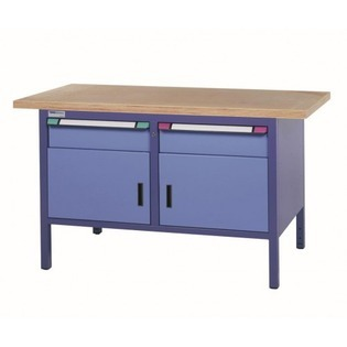 Établi compact Classic L1500 - 2 tiroirs/2 portes